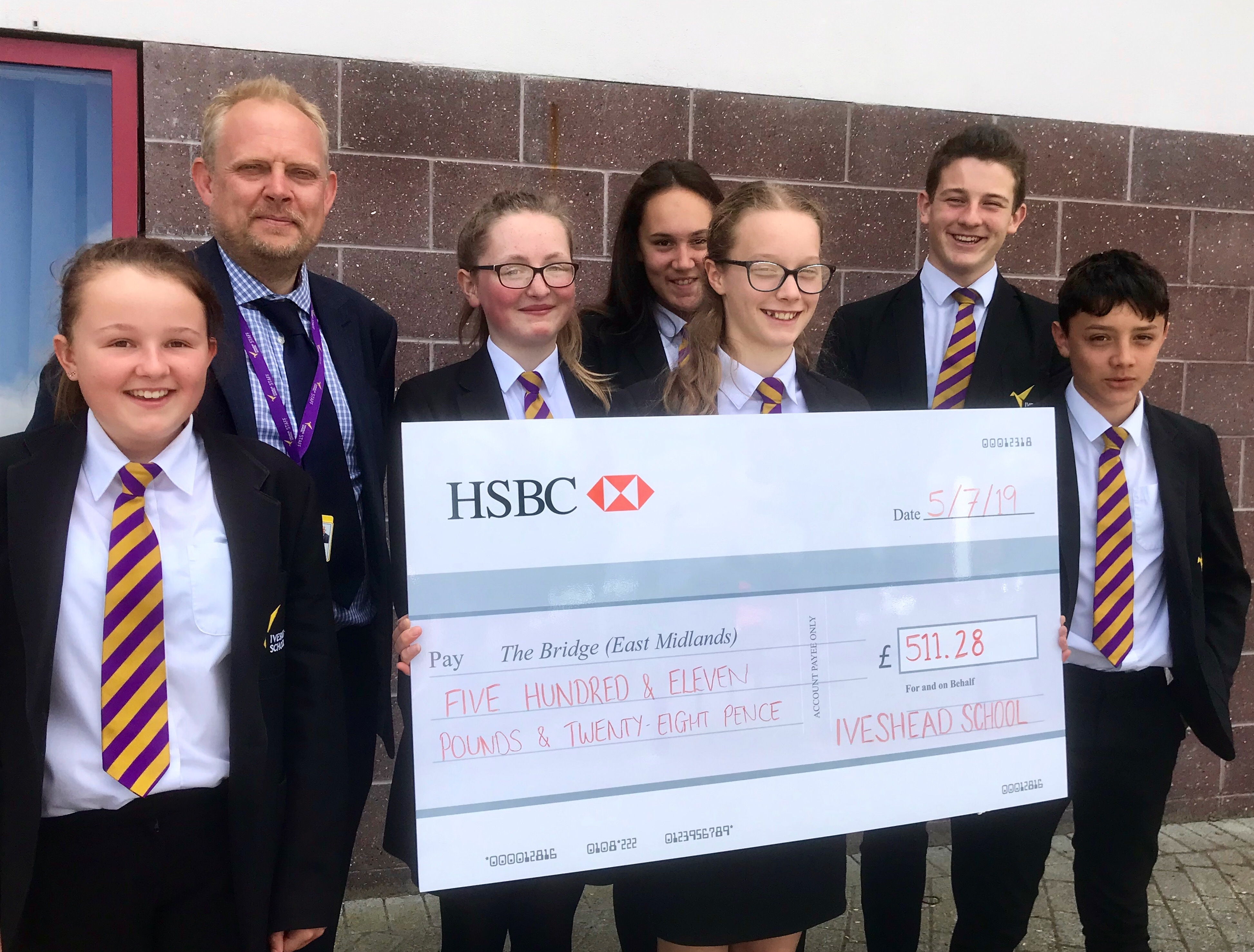 Students raise over £500 for The Bridge